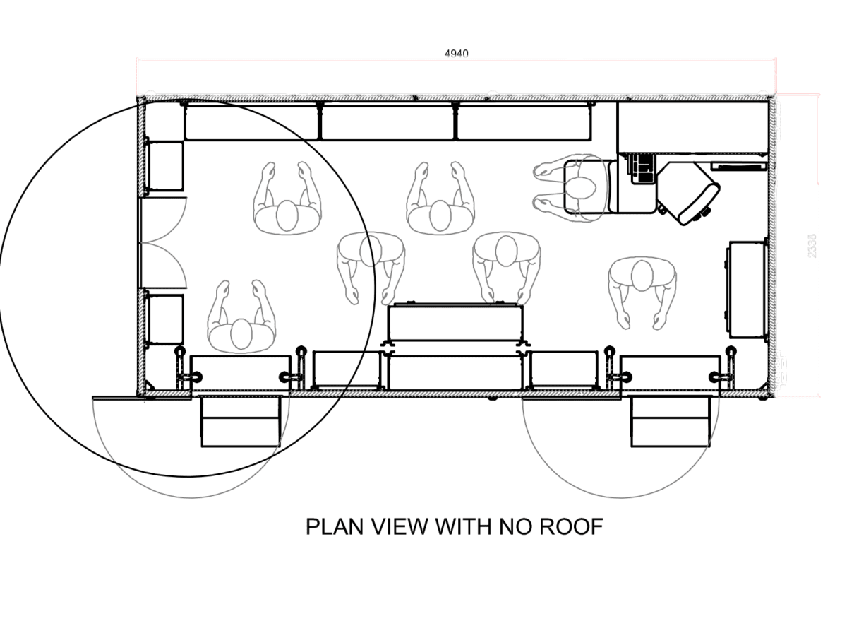 Plan View With No Roof